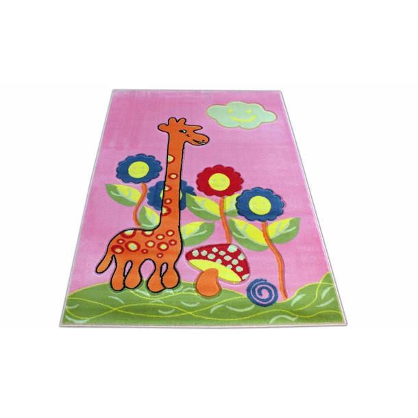 Dětský koberec Žirafa - růžový