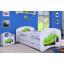 Dětská postel se šuplíkem 180x90cm ZELENÉ AUTO