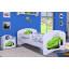 Dětská postel bez šuplíku 160x80cm ZELENÉ AUTO