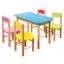 Dětský dřevěný stoleček z masivu - barevný