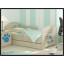 Dětská postel s výřezem PEJSEK - modrá 160x80 cm