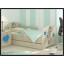 Dětská postel s výřezem ŽIRAFA - modrá 160x80 cm