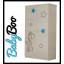 Dětská šatní skříň s výřezem ŽIRAFA - modrá