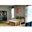 Dětská postel s výsuvnou přistýlkou z MASIVU bez šuplíku - DPV010