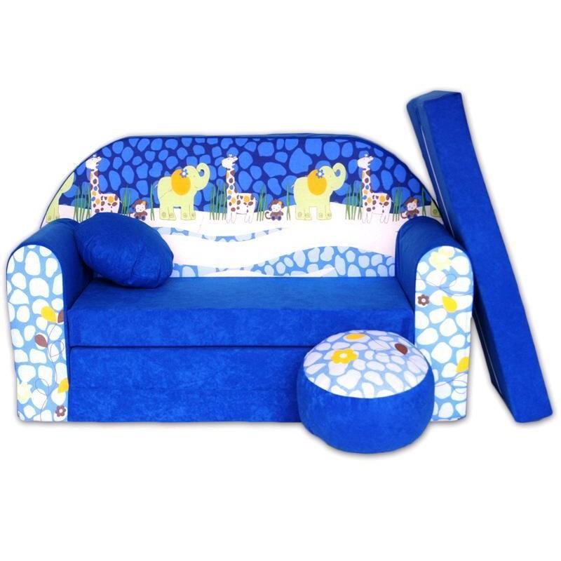 0425b831e054 Dětská pohovka Modrá ZOO - Dětské pohovky ...