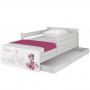 Dětská postel MAX Disney - MINNIE PARIS 180x90 cm - SE ŠUPLÍKEM
