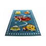 Dětský koberec Autíčka - modrý