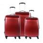 Moderní cestovní kufry VOYAGER - tmavě červené