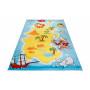 Dětský koberec OSTROV PIRÁTŮ 2 - světle modrý