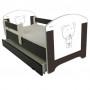 Dětská postel HNĚDÝ MEDVÍDEK 140x70 cm