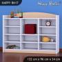 Dětský úložný regál - TYP 17 - NÍZKÝ - světlá hruška