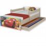 Dětská postel MAX Disney - AUTA 160x80 cm - SE ŠUPLÍKEM